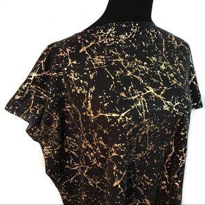 Vintage gold splatter paint t-shirt top